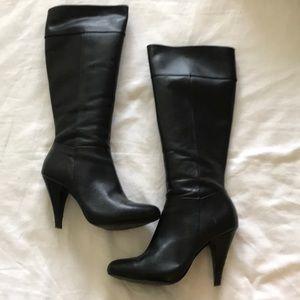 ALDO knee-high heeled leather boots